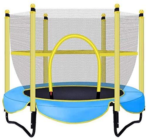 JISHIYU Outdoor Trampoline for Children with Protective Net Trampoline 100 Kg Internal Bouncing Bed (Color : Blue)
