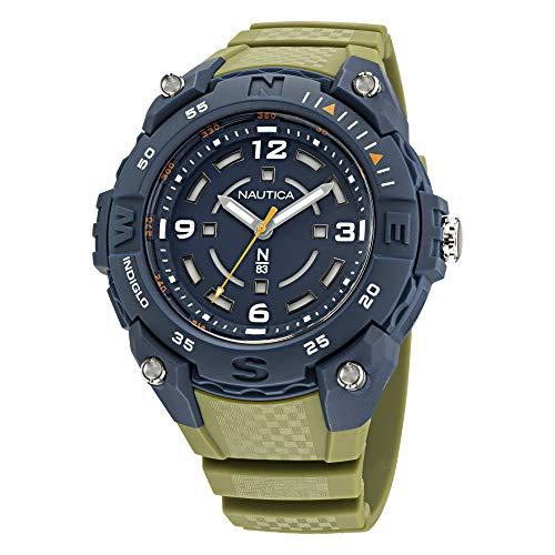 Nautica NAPCNF005 - Reloj de cuarzo para hombre, color verde, 20 casual