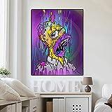 Dipinti su Tela di Colore della Famosa Artista Lisa Haha Poster e Stampe sulla Bocca degli affreschi nella Camera dei Bambini Senza Cornice 20x30cm