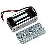 HFeng Bloqueo electromagnético de control de acceso 60 kg/132lbs electrónico cierre magnético DC12 V Fail Safe NC Mini pequeño cerradura de puerta para sistema de seguridad eléctrica
