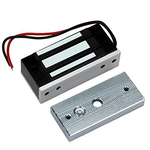 HFeng Bloqueo electromagnético de control de acceso 60 kg/132lbs electrónico cierre magnético...