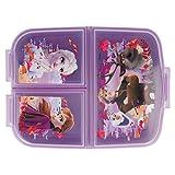 Frozen 2 Kinder Brotdose mit 3 Fächern, Kids Lunchbox,Bento Brotbox für Kinder