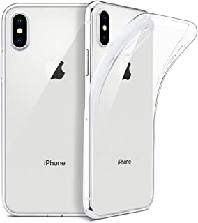 Clear iPhone Xs Max Case   6.5'' Soft Silicone Designed for Apple iPhone Xs Max (2018) by BX Design - Crystal Clear