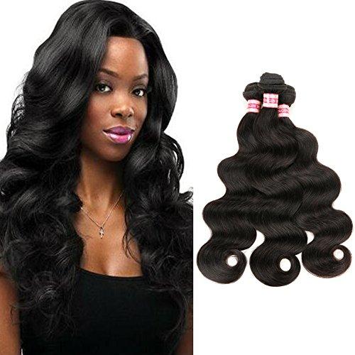 Fabeauty 7a Brazilian Body Wave Virgin Hair 3 Pcs Lot Cheap 100% Unprocessed Human Hair Extensions Natural Black Brazilian Virgin Hair Soft Body Wave Mixed Length 3 Bundles (22 24 26)
