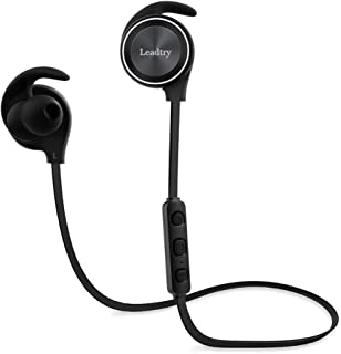 LeadTry E12 Bluetooth Headphones with Bluetooth CSR 4.1, CVC6.0 Noise Cancellation, Wireless In-Ear Headphones Sports Running Stereo Earbuds, 8 Hours Playtime, Built-in Mic (Grey)