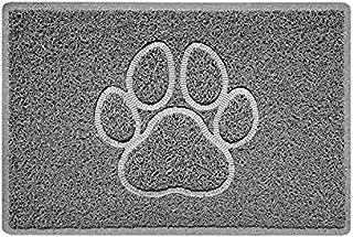 Nicoman PAW Embossed Shape Door Mat Dirt-Trapper Jet-Washable Doormat-(for Indoor or Sheltered Outdoor)-(60x40cm/23.6x15.7...