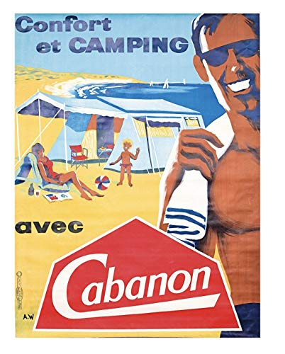 Camping und Zelte Cabanon Poster, Reproduktion, Format 50 x 70 cm, Papier 300 g, Verkauf der digitalen Datei HD möglich