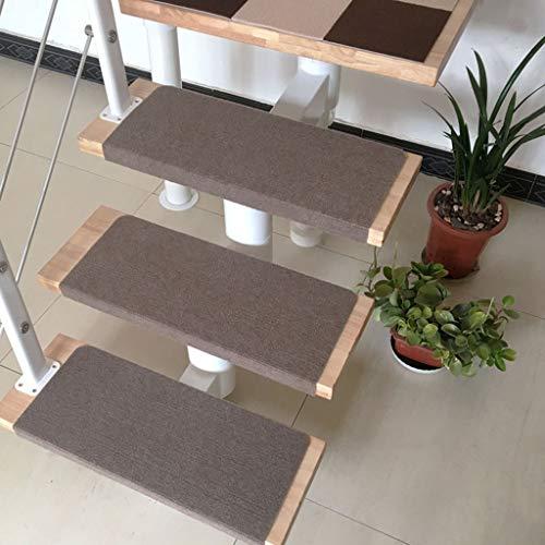 Carpet Stair 15 stuks traptapijt, trapbekleding, trapbekleding, tapijt-trapbekleding, meerkleurig antislip, zelfklevend, 80x22 cm