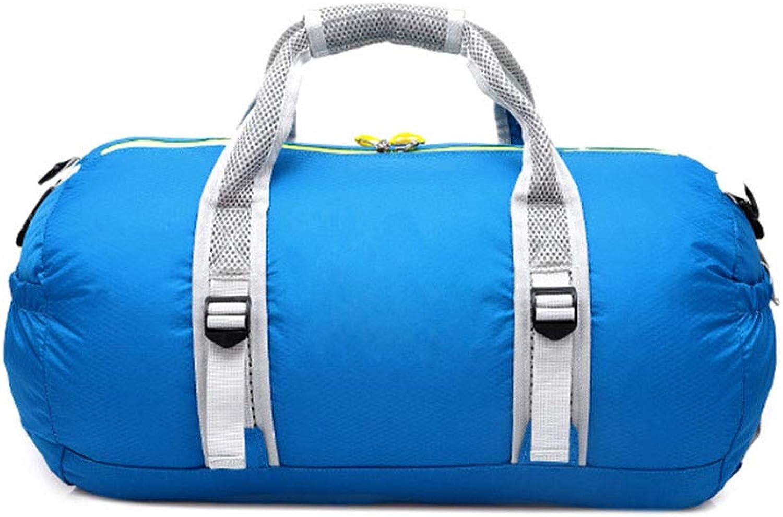 Travel Duffel Bag Folding Travel Bag MultiFunction Shoulder Bag Sports Gym Bag Foldable Weekender Bag Unisex (color   blueee)