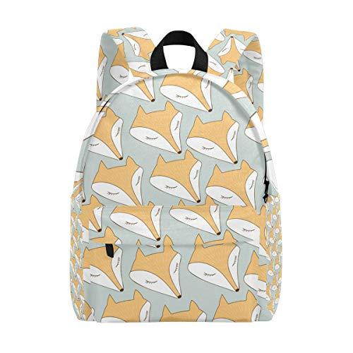 Sac à Dos Mignon Fox Head Sac à Dos pour Les garçons et Les Filles Outdoor Daypack Casual