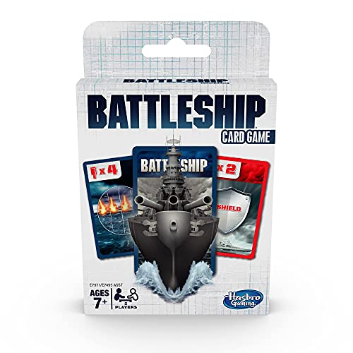 Hasbro Gaming Battleship Card Game for Kids Ages 7 and Up, 2 Players Strategy Game, Multicolor