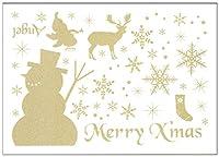 サンコーマーク工業 ウォールステッカー クリスマス 雪だるま 21×29.7cm ハウスジーダ JWS-61