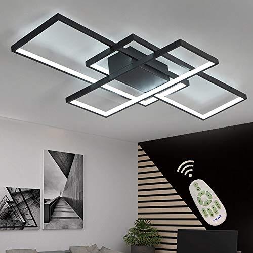 Lámpara LED regulable de techo, para sala, isla de cocina, mesa, con control remoto, moderna, para comedor, montaje empotrado, diseño de acrílico chic, iluminación de techo...