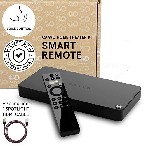 Caavo Control Center Smart Remote and Home Theater Hub with Voice Control - Lifetime Plan