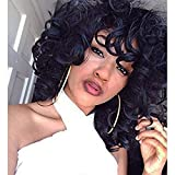 Best African American Wigs - EXVOGUE Kinky Short Curly Wigs Synthetic Fiber Fluffy Review