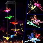 KUAHAIHINTERAL Solar Power Wind Chime Light Spiral Spinner Decorative Mobile Waterproof Outdoor Romantic Wind Bell Light… 2