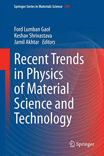 Recent Trends in Physics of Material Science and Technology (Springer Series in Materials Science)