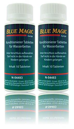 Blue Magic Conditioner Konditionierer Tabletten Tabs Wasserbett Schlauchsystem Kissen 20 Stück