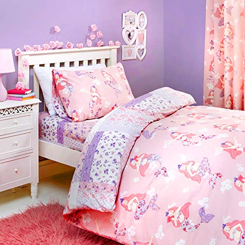 Bedlam - Mermaid - Childrens Duvet Cover Set | Double Bed Size | Pink Bedding