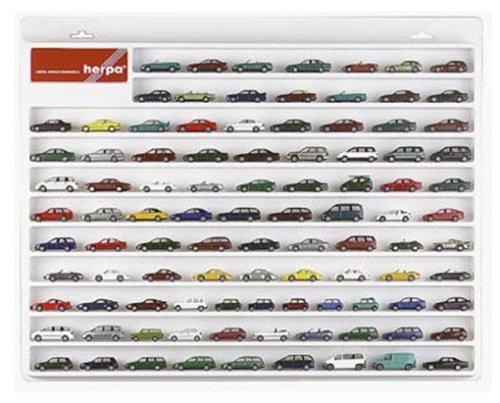 Herpa 029223 029223-PKW-Schaukasten, Hängevitrine für Modellautos und Flugzeuge mit Liebe zum Detail, weiß