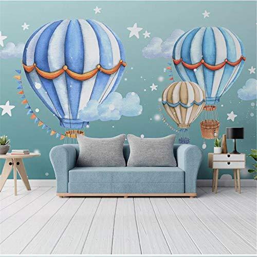 Newberli Personalizado Mural Grande Moderno Minimalista Habitación De Niños Habitación Cama Comercio Globo Aerostático Papel Tapiz Mural De Dibujos Animados