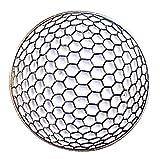 Spilla in metallo smaltato a forma di palla da golf.