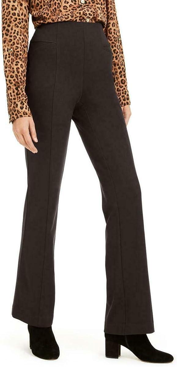 INC Womens High-Waist Curvy Fit Bootcut Pants Black 12