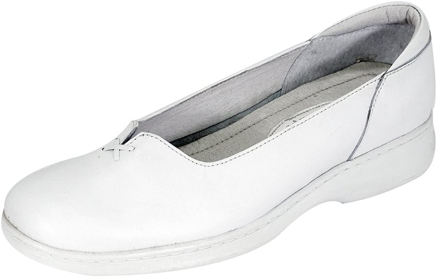 24 Hour Comfort Cali Women Wide Width Elegant Durable Cushioned Comfort Leather Slip On shoes