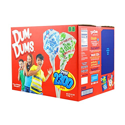 Dum Dums Original Pops, 2,300-Count Bulk Box