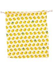SHUAIGE - Bolsa de almacenamiento de dibujos animados con cordón, bolsa de tela fresca y bonita es muy adecuada para regalos para novias e hijas. Material: tela de algodón, tamaño: 15 x 14,5 cm