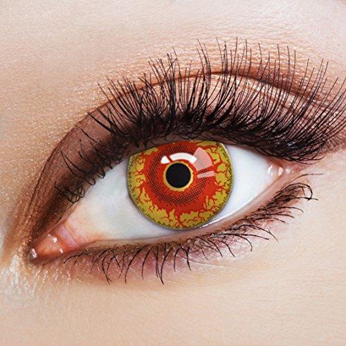 aricona Kontaktlinsen Farblinsen - Farbige Kontaktlinsen ohne Stärke - Halloween Kontaktlinsen farbig ohne Stärke