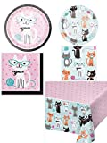 Olive Occasions Purr-fect Cat Themed Disposable Party Supplies 16...