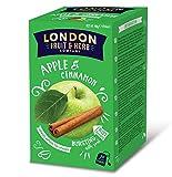 London Fruit & Herb Company Infusión de manzana y canela naturalmente sin cafeína - 1 x 20 bolsitas de té (40 gramos)
