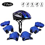 Helmets for Kid Sports Safety Protective Gear Set with Knee Pads/ Elbow Pads / Wrist Guard for 3-8 Years Toddler Bicycle Skateboard Skating Scooter Cycling Riding