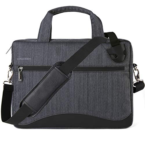 VanGoddy 17 17.3 inch Slim Gray Anti-Theft Laptop Messenger Bag Fit for Asus VivoBook 17 X705 F712FA, Pro 17 N752VX, X571, TUF FX705, StudioBook S W700, ROG, Zephyrus, FX753