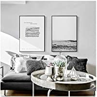 LLXHGシンプルな風景壁アートキャンバス絵画森の海の楽譜ポスター家族の寝室のリビングルームの装飾絵画の写真-60X90Cmx2Pcs非フレーム
