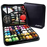 Sewing Kit,AUERVO 116 Premium Sewing Supplies with PU Case, 30 XL Thread Spools,Mini Sewing Kits for DIY, Beginners,Emergency,Kids,Summer Campers, Travel and Home, with Scissors,Thimble,Thread,Needle