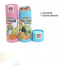 48 Color Colored Pencils Drawing For Artist Sketch Coloring BookNot Included Blue