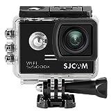 SJCAM SJ5000X Elite Action Camera sportiva, HD 2.0 pollici LTPS WiFi 4K 24fps Gyro Diving 30m Impermeabile Action Cam + 1pcs caricabatterie + 1pcs Batteria supplementare (Black)