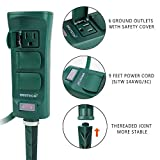 Photo #6: Ovil Technology Green Weatherproof Outdoor Power Strip With Long Cord