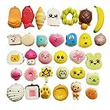 Mini Squishies Mochi Squisshy Toys, Squisshy Toys para Regalos de Fiesta de Pascua, 40PCS Mini Squeeze Stress Relief para niños Adultos Treasure Box Toys