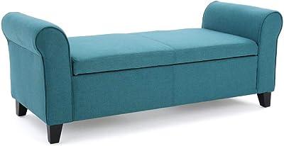 Amazon Com Linon 84021blk 01 Kd U Carlton Padded Bench