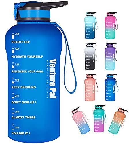 (50% OFF) Motivational Water Bottle 64oz $9.50 Deal