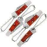 DNA Leisure ein Set mit 4 X Mini UK Legal Carry Edc Multifunktionswerkzeug Tasche Umklappbar Messer mit unter 3 Zoll Klinge und Schlüsselring