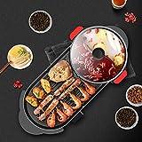 Parrilla eléctrica, Coreano Cubierta BBQ Grill eléctrico sin Humo, Barbacoa eléctrica Pot, Teppanyaki Parrillas, for el Partido de Cena del hogar Entretenimiento y jianyou