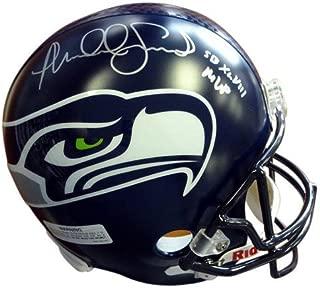 Malcolm Smith Signed Seattle Seahawks Super Bowl Riddell Football Helmet SB XLVIII MVP - Autographed NFL Football Helmets