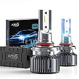 KMV 9005 H10 HB3 Headlight Bulbs,70W 12000LM 6000K Extremely Bright LED Bulb Conversion Kit Wireless Headlight LED Bulbs,Pack of 2