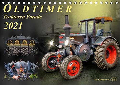 Oldtimer - Traktoren Parade (Tischkalender 2021 DIN A5 quer)