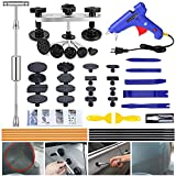 GLISTON Car Dent Removal Dent Puller Tool, Paintless Dent Repair Kit, Pro Slide Hammer Tools with 16pcs Thickened Black Tabs for DIY Automobile Body Dent Remover