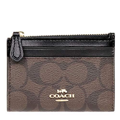 [コーチ] COACH 財布(コインケース) F88208 ブラウン×ブラック シグネチャー ミニ ID キーリング スキニー 2 レディース [アウトレット品] [ブランド] [並行輸入品]
